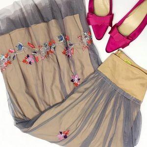 CHAN LUU • embellished tulle maxi skirt